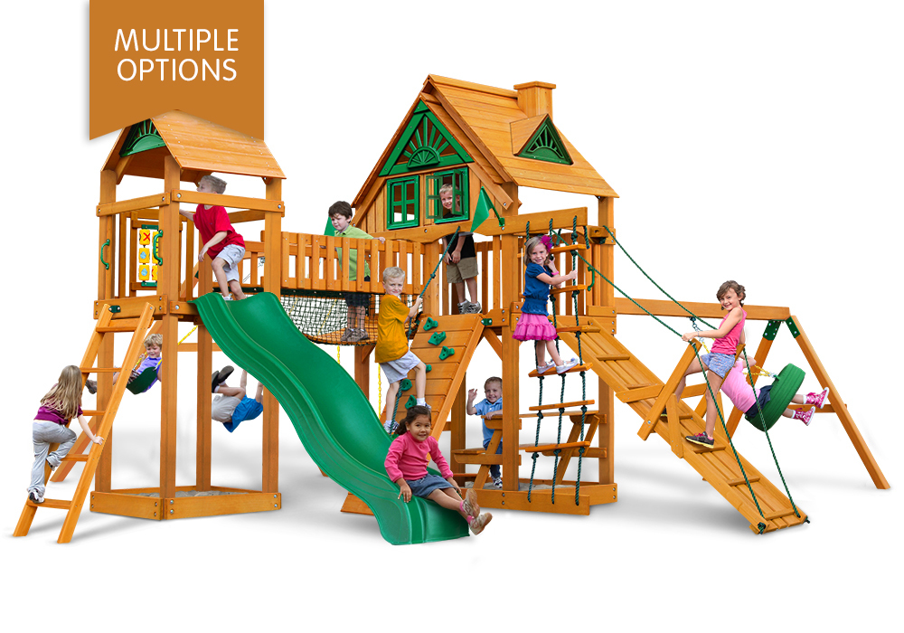 Playnation Swing Sets Cimmaron Wooden Playset Boxed