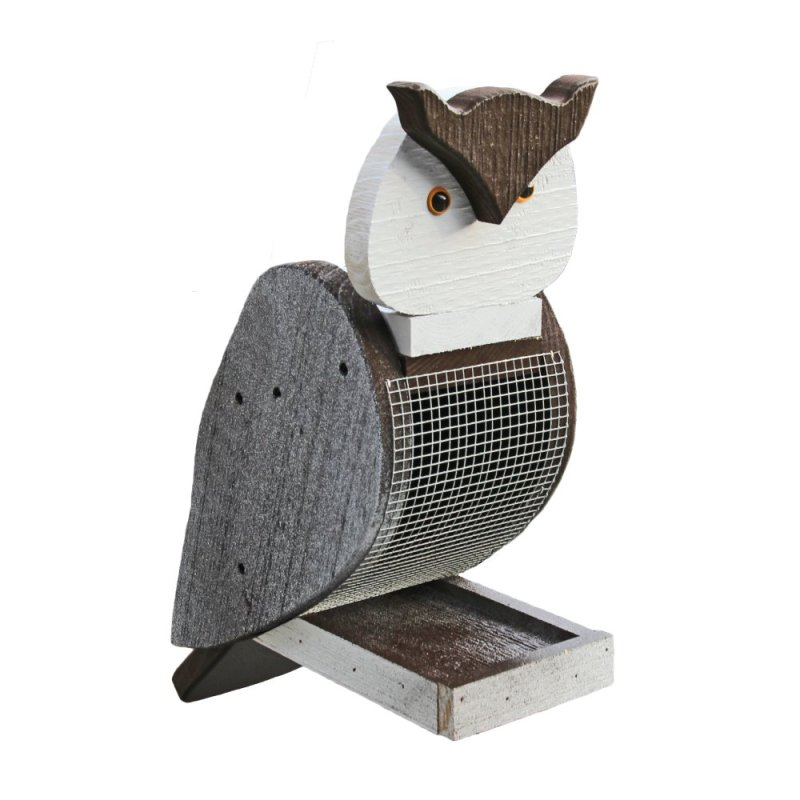 Owl Wood Bird Feeder by Beaver Dam