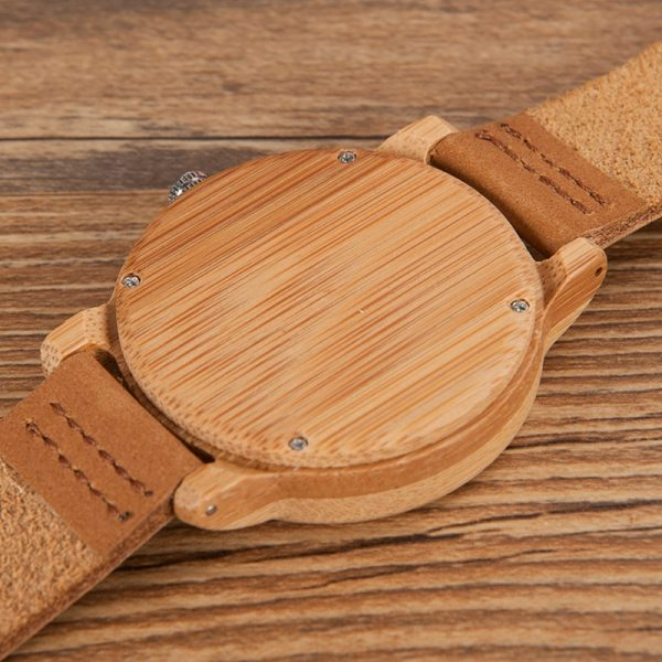 BOBO BIRD Mens Watches Top Brand Luxury Women Watch Wood Bamboo Wristwatches with Leather Strap relogio masculino DROP SHIPPING 4