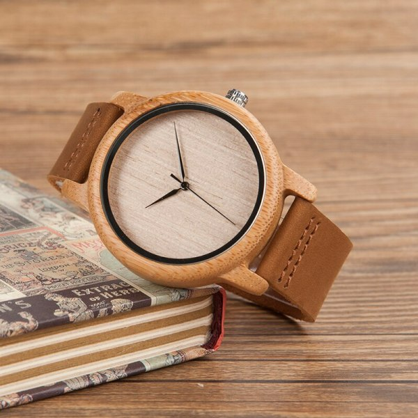 BOBO BIRD Mens Watches Top Brand Luxury Women Watch Wood Bamboo Wristwatches with Leather Strap relogio masculino DROP SHIPPING 2