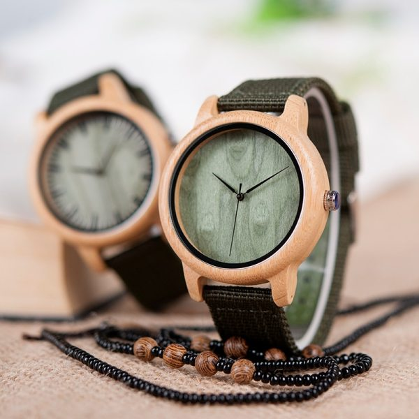 BOBO BIRD WD11D12 Wood Bamboo Watch for Mens Womens Brand Designer Watches Soft Nylon Band Carton Gift Box Relogio masculino 5