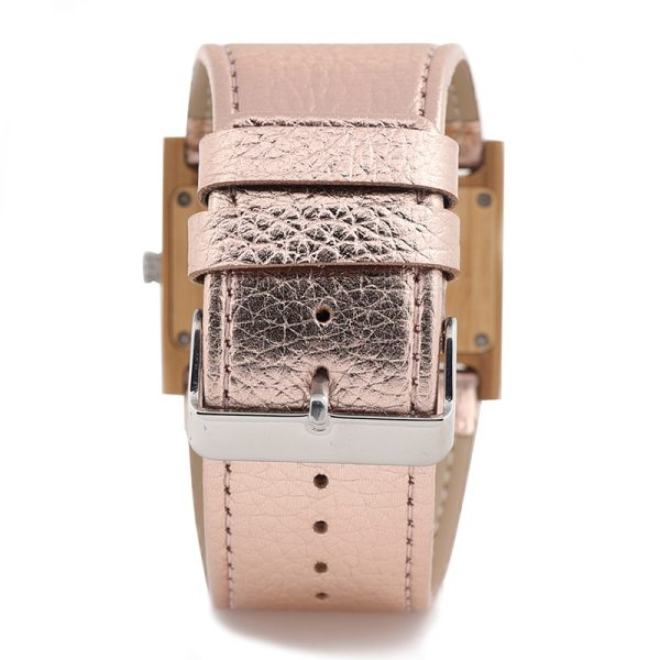 BOBO BIRD Ladies Wide Band Watch Rectangle Bamboo Wood Women's Dress Watch reloje mujer in Gift Box zegarek damski V-N21 5