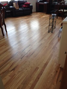 Wood floor refinished installed after pic