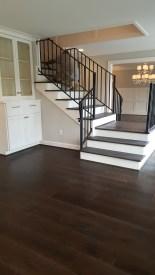Engineered wood floor installed