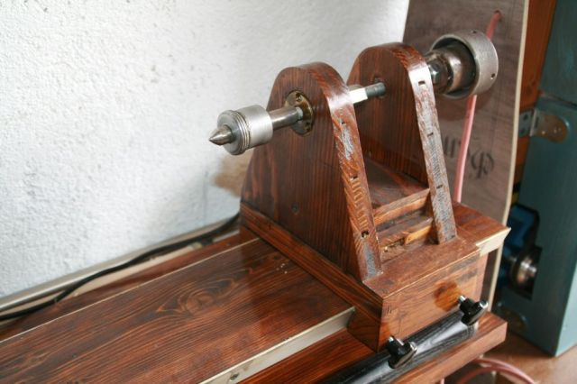 The tailstock, a simple affair with a old MK1 live center modified so ...