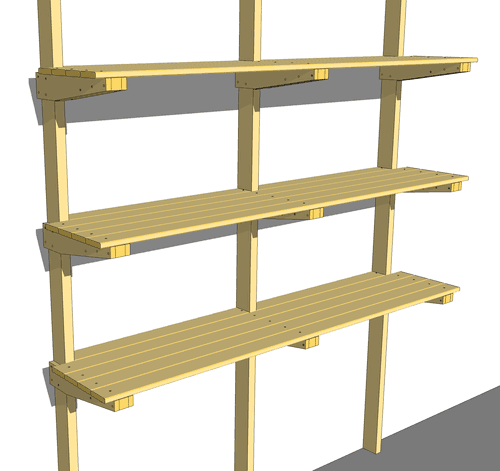 question about the measurements of my cantilevered basement shelves