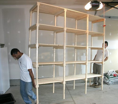 wood shelving plans storage