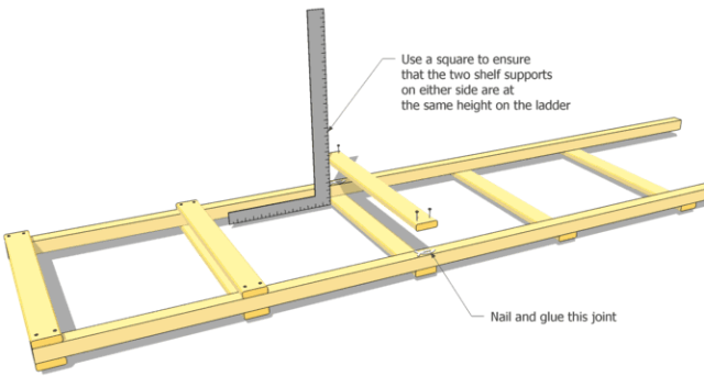 start by assembling four ladders as shown be careful that you get