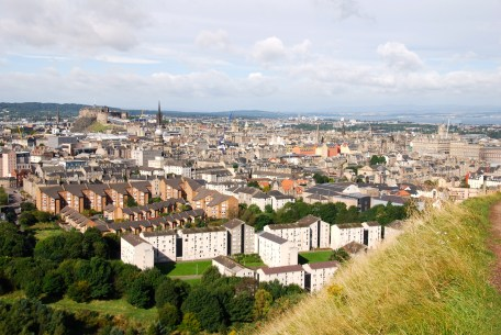 A view of Edinburgh from Holyrood Park