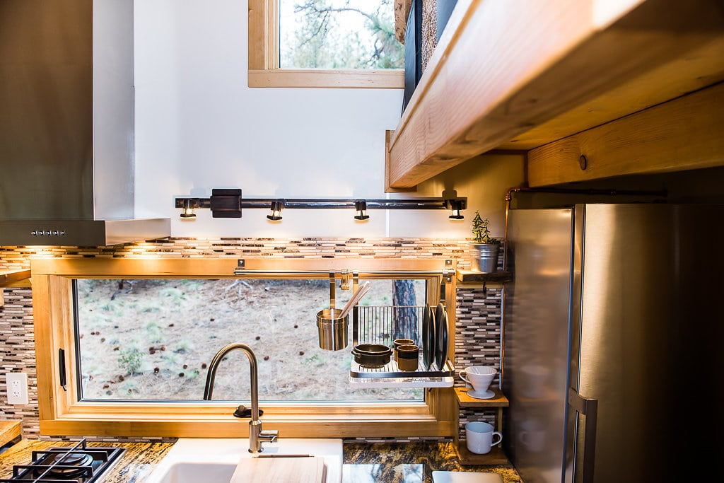 Tiny Home House Warm kitchen Lighting