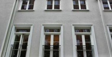Outside of building showing windows
