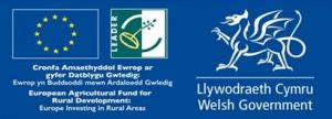 Blue baner with WG logo, leader logo and European Agricultural fund for rural development