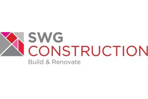 SWG logo including box with different coloured triangles