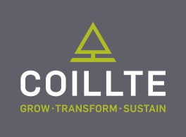 "Collite logo. Simple triangular green tree and strap line ""grow, transform, sustain"""
