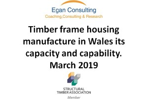 Title of report and logo from Egan Consulting and Structural Timber Association