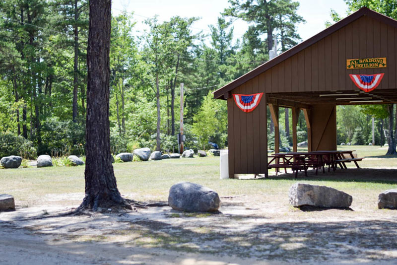 Event pavilion at campground