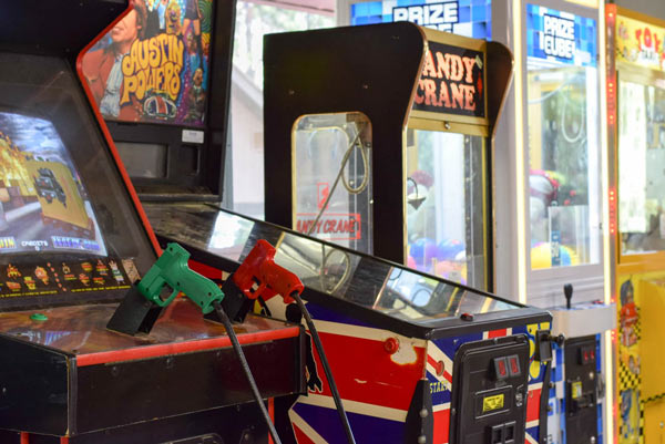 Arcade games at Woodland Acres
