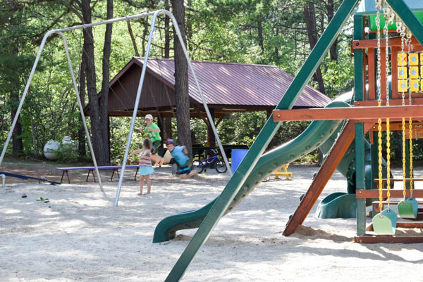 Campground with fund Playground