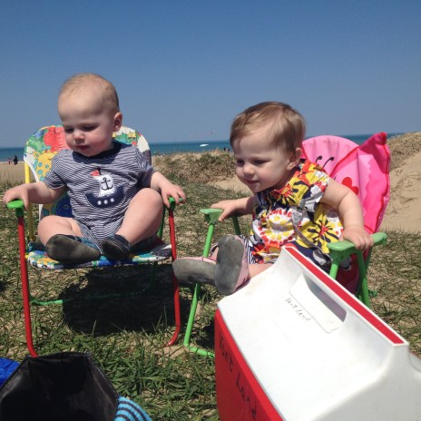 favorite chairs + favorite foods + sand = best day ever