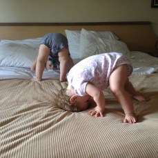 So she could practice more somersaults with her brother.
