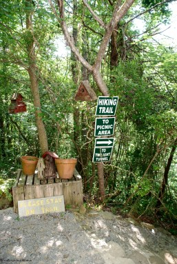 Charming trail marker area