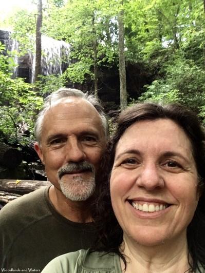 Ted and Ruth at Lodge Falls