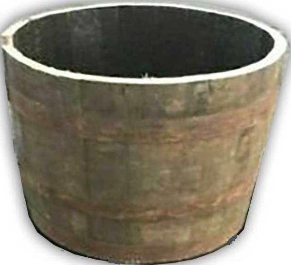 half whisky barrel planter