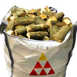 kiln dried ash hardwood firewood logs bulk bag