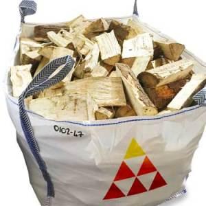 kiln dried softwood firewood logs bulk bag