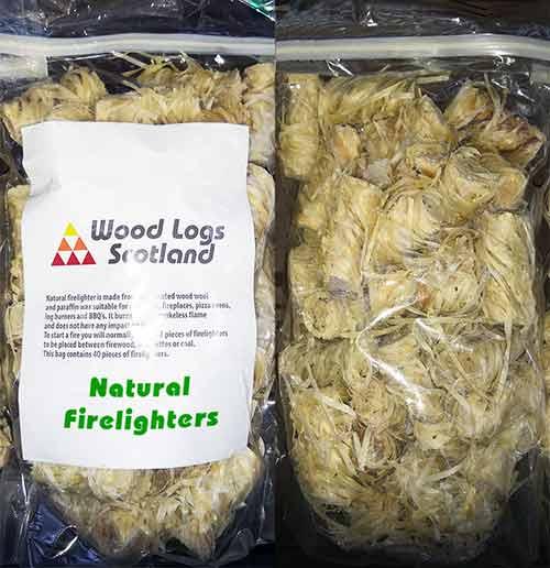 natural firelighters bag