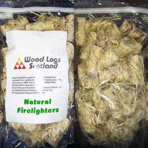 natural firelighters bag