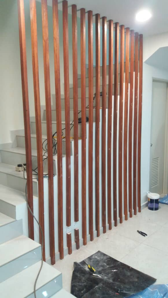 Wood Divider with Wood Beam In Selangor