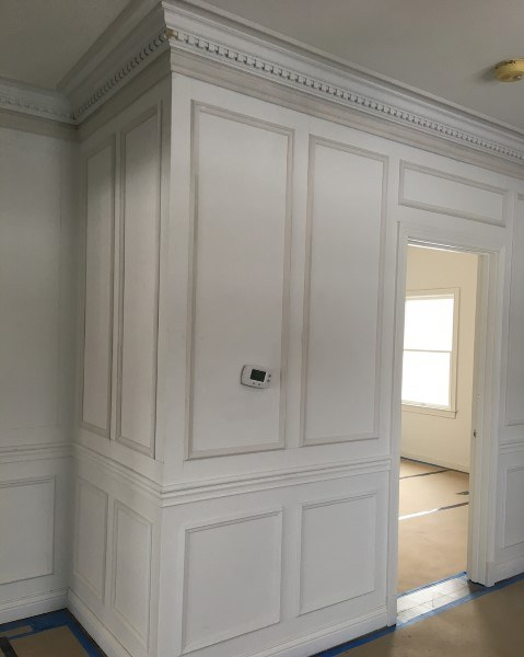 Full Wall Wainscoting Design