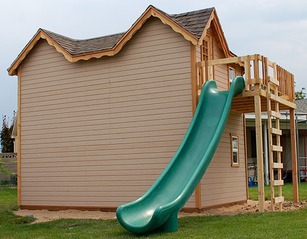 plans playhouse with slide