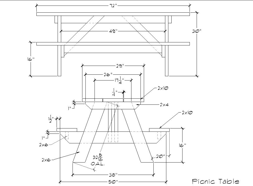 Plans To Build A Picnic Table