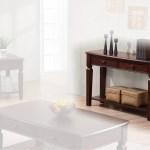 Bisque Sofa Table Espresso