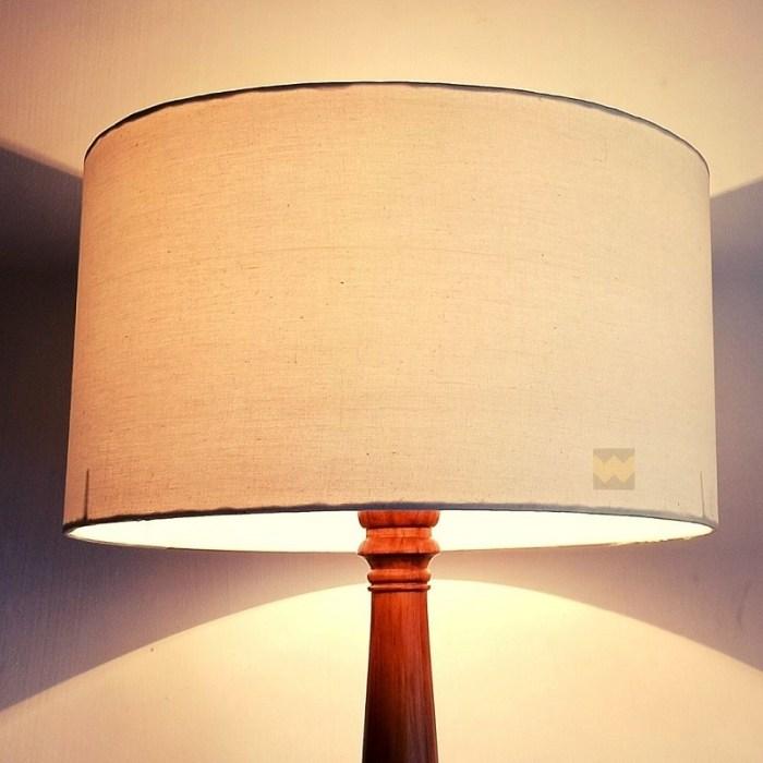 Cream lamp shade for floor lamp