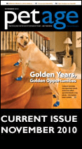 Pet Age Magazine Cover Featuring Power Paws