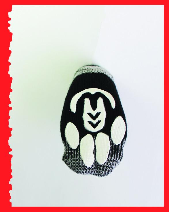 Greyhound Edition, Reinforced Foot, black/grey, bottom view.