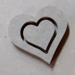 """Hearts cut from 3/16"""" MDF"""