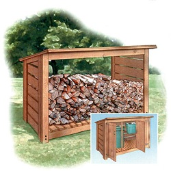 Firewood Wood Shed Plans