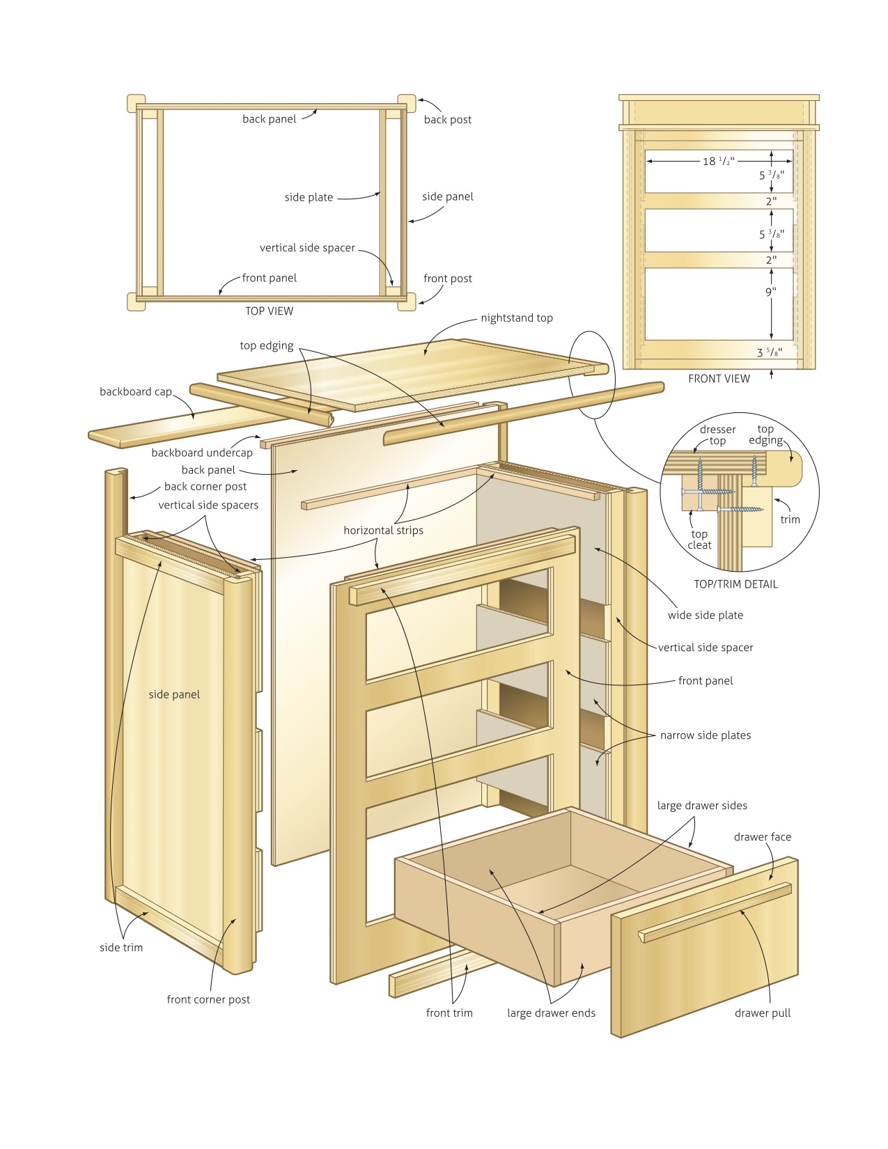 How To Build Nightstand Wood Project Plans Plans Woodworking Coffee