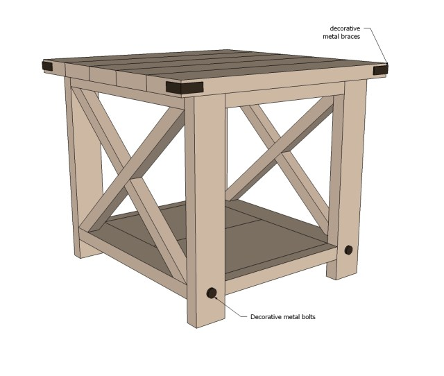 rustic end table woodworking plans step 07