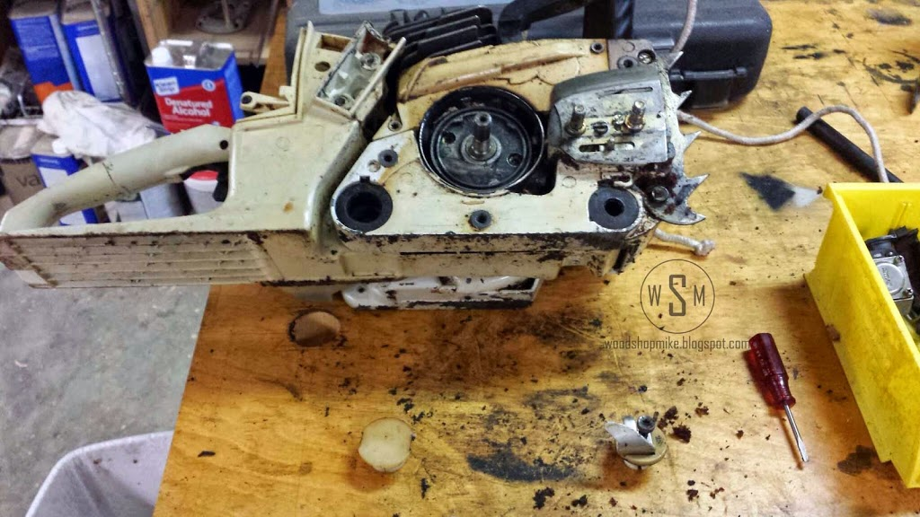 A Dying Chainsaw's Last Words: Top End Rebuild - Woodshop Mike