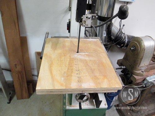 Circle Cutting Jig, Bandsaw