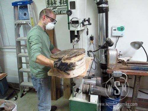 Cutting Half Log Round On Bandsaw