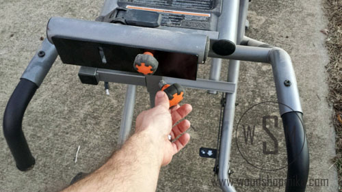 Outfeed Height Adjustment 2, Ridgid Miter Saw Stand