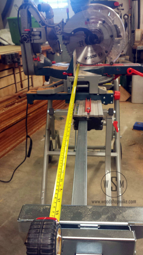 BOSCH Gravity Rise Miter Saw Stand, Full Extension 99in