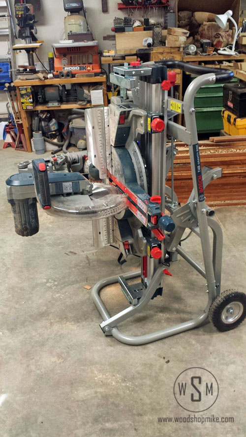 BOSCH Gravity Rise Miter Saw Stand, Storage - Transport