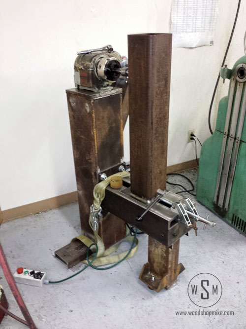 Drilling For Tailstock Quill Location, Big Blue Home Made Wood Lathe